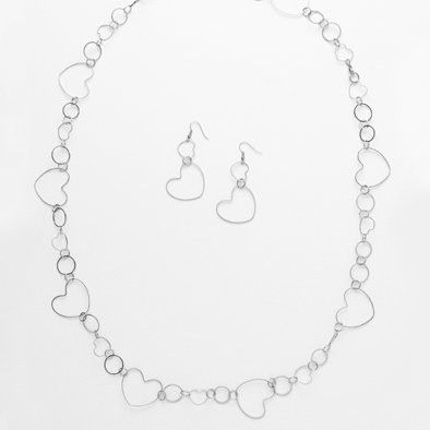 Chain of Hearts Fashion Jewelry Set