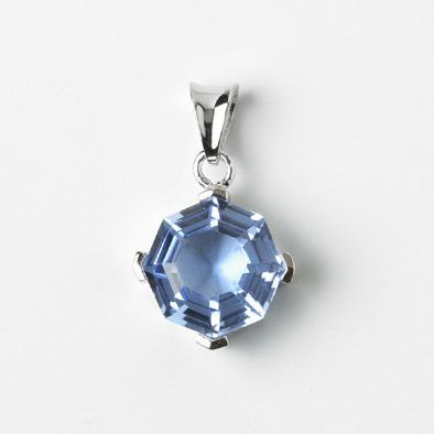 Blue Quartz Octagon Pendant