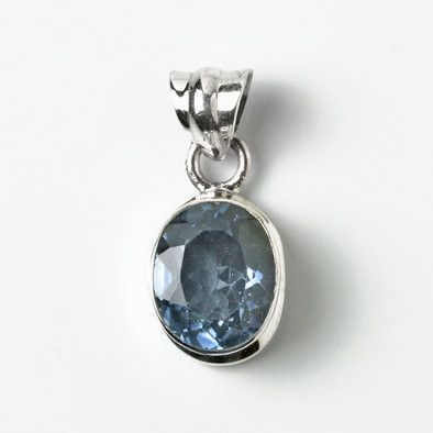 Oval Blue Quartz Pendant