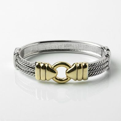 Two-tone Fashion Belt Bracelet