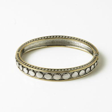 Circles Two-tone Bangle Bracelet