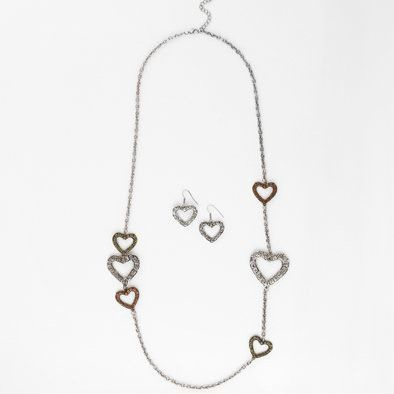 Love Never Fails Super Necklace and Earrings Set