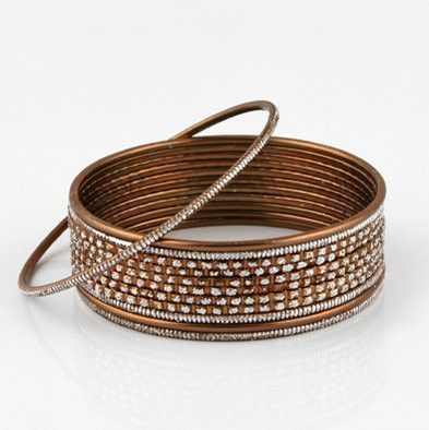 Brown Fashion Bangle Bracelet Set