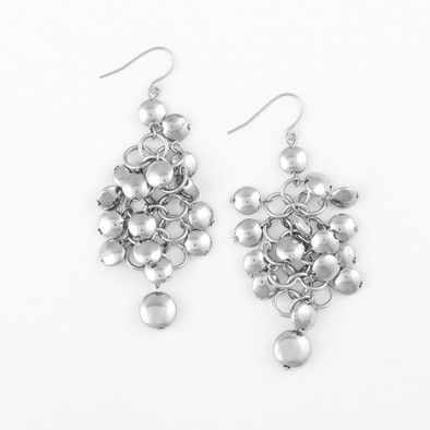 Silver Cluster Fashion Earrings