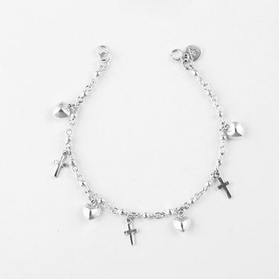 Cross My Heart Charm Bracelet