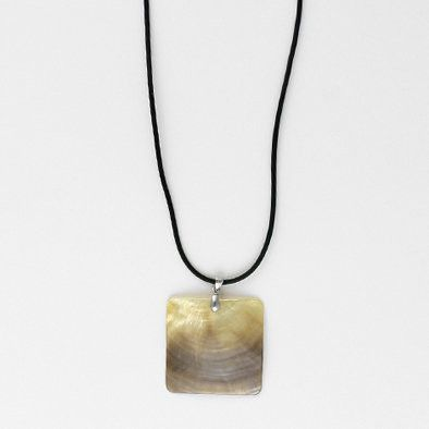 Simple Abalone Square Unisex Necklace