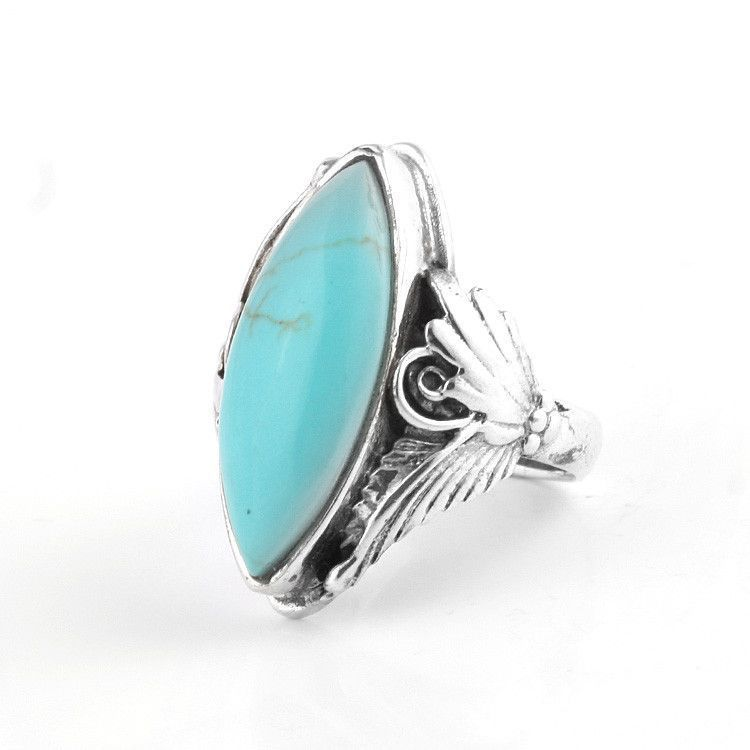 Captivating Blue Turquoise & Silver Ring