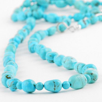 "60"" Long Turquoise Necklace"