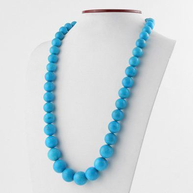 Beautiful Beads of Blue Turquoise Necklace