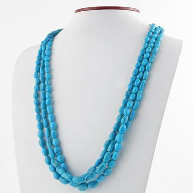 3 Layers of Turquoise Classic Necklace