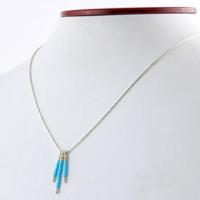 Southwestern Turquoise and Sterling Necklace