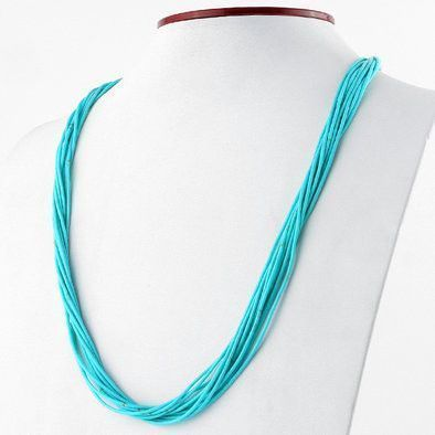 10 Layered Strands of Turquoise Necklace