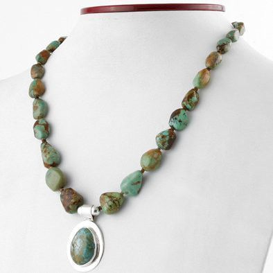 New Mexico Natural Turquoise Necklace