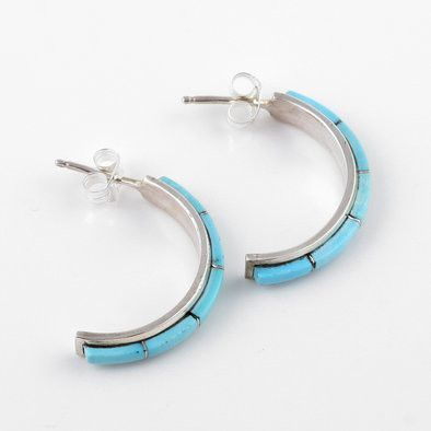 Turquoise Cresent Studs