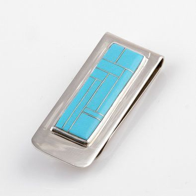 Turquoise Inlay Money Clip