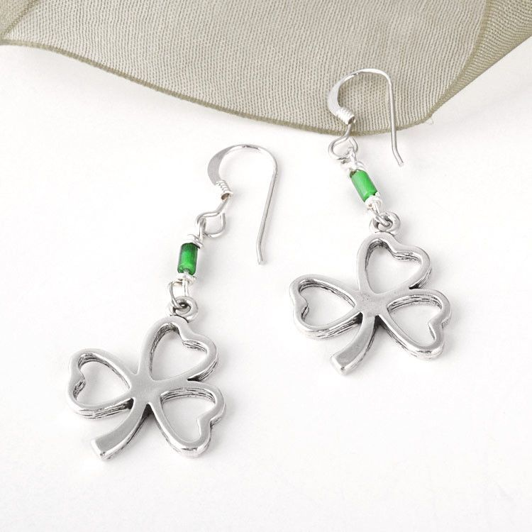 Three Leaf Clover Earrings
