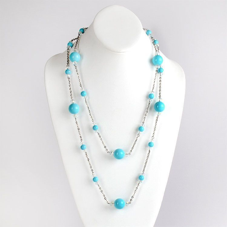 Extra Long FashionTurquoise Necklace