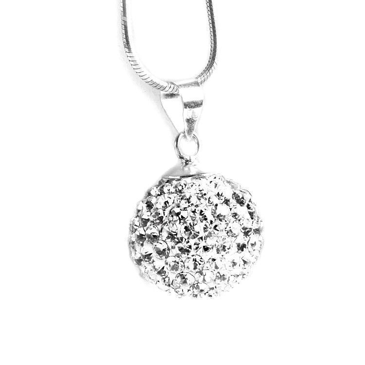 Pavé Disco Ball Crystal Pendant