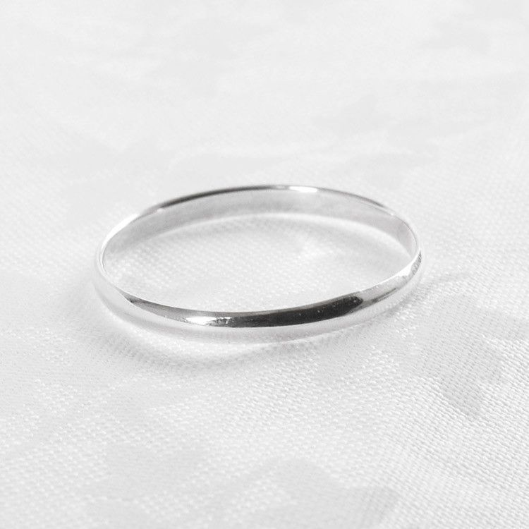Stackable Simply Silver Band Ring