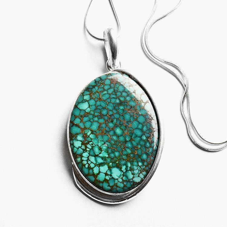 Awesome Oval Turquoise Pendant