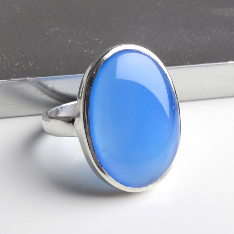 Classic Blue Chalcedony Ring