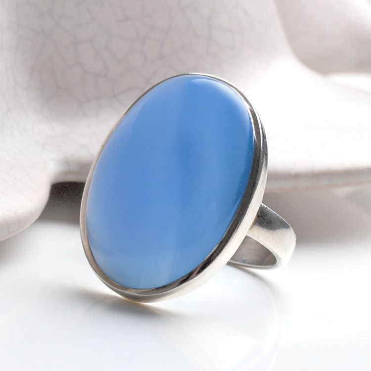 Big & Simple Chalcedony Ring