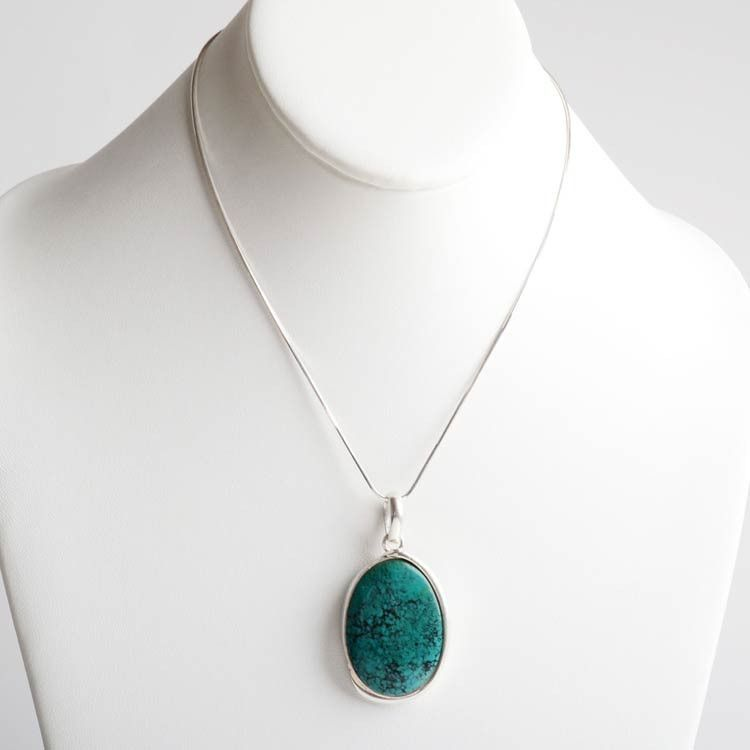 Beautiful Oval Turquoise Pendant