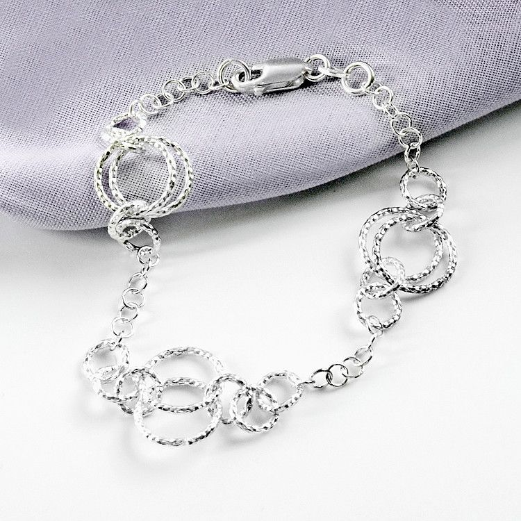 Circles of Sterling Silver Bracelet