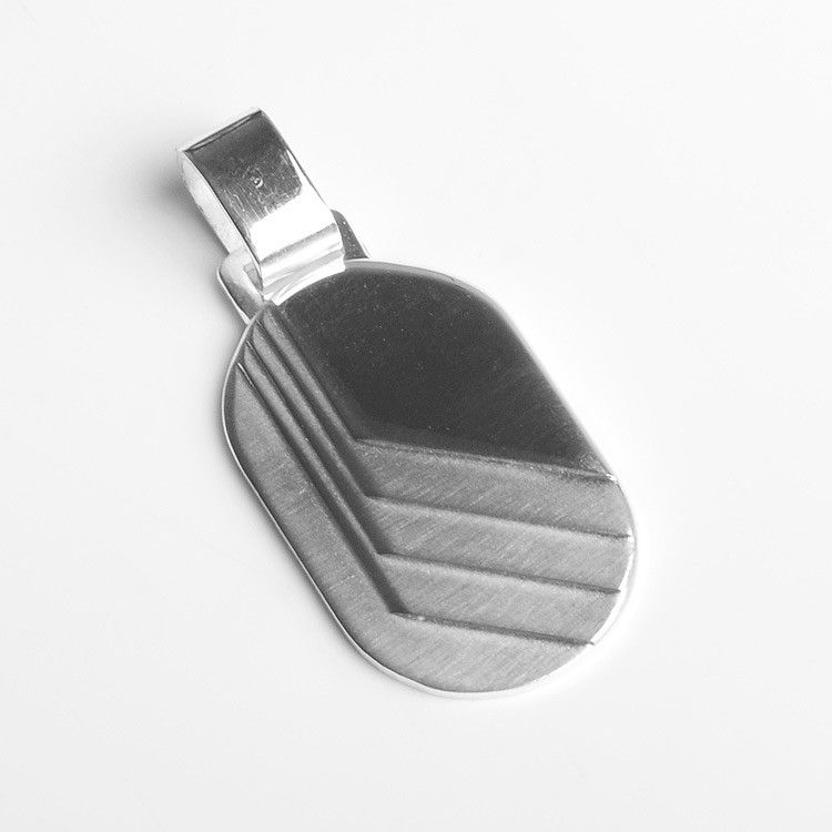 Men's Stylish Dog Tag Pendant