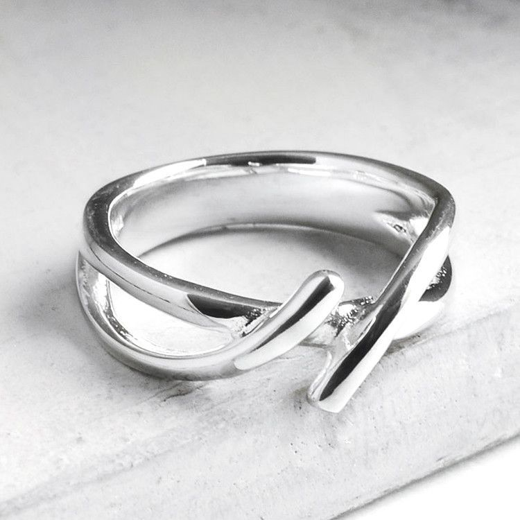 Simple Silver Fashion Ring