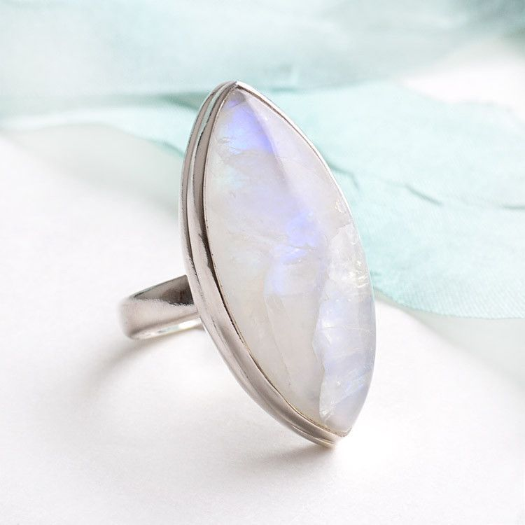 Moonstone in Silver Ring