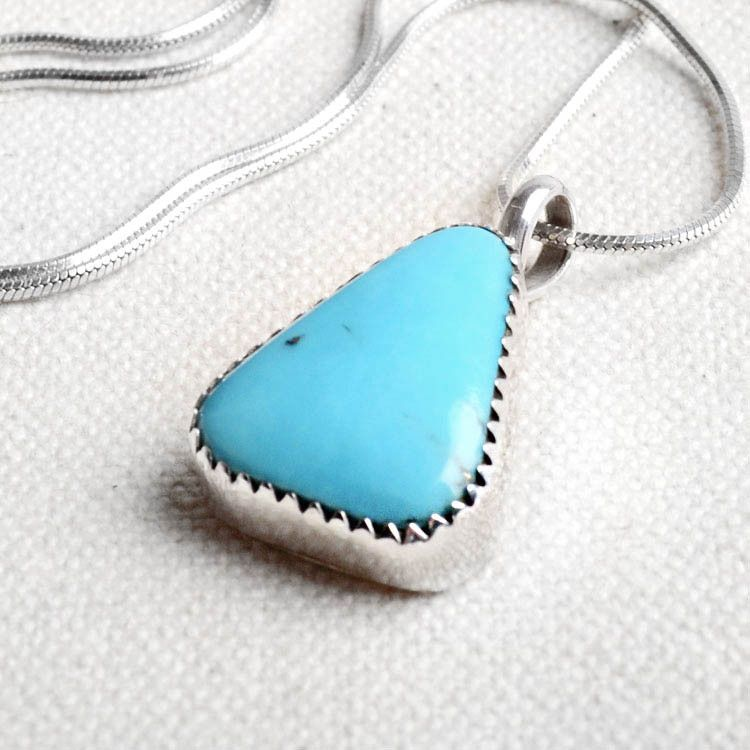 Small Triangle of Turquoise Pendant