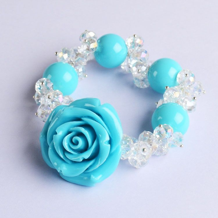 Fashion Rose Stretch Bracelet