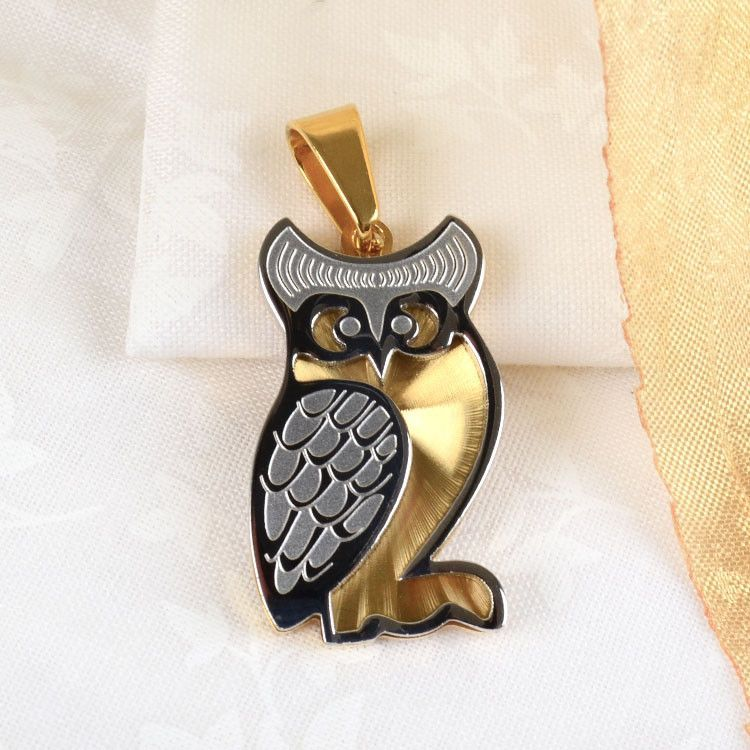 Two Toned Owl Pendant