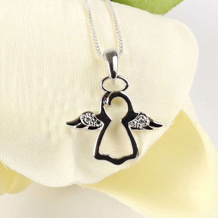 Angel Pendant with CZ