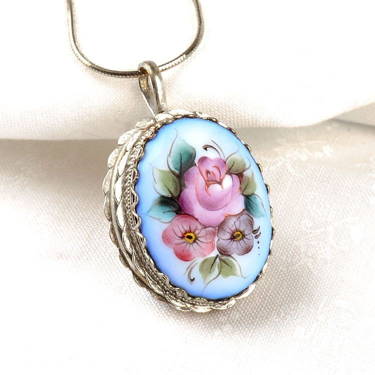 Blue Finift Enamel Locket