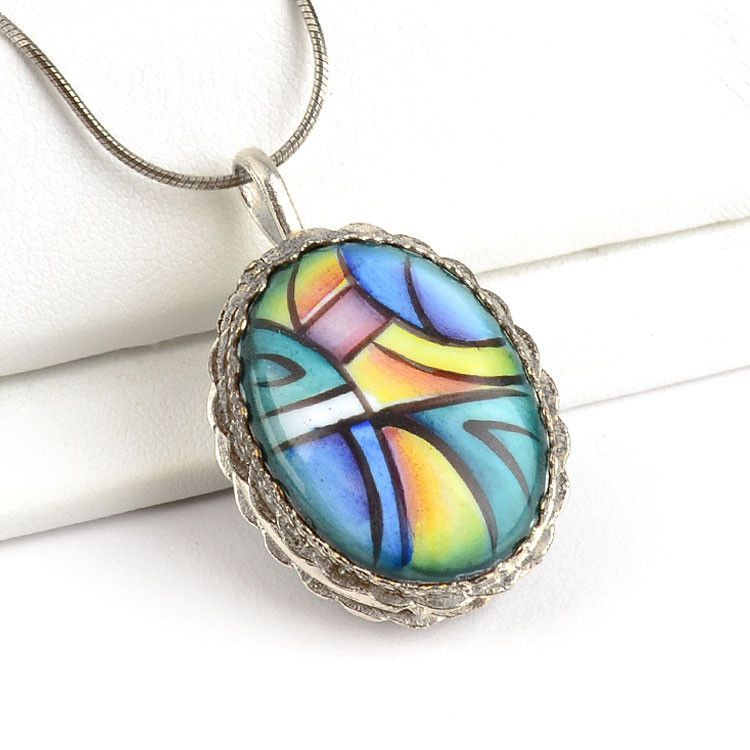 Abstract Art Finift Locket