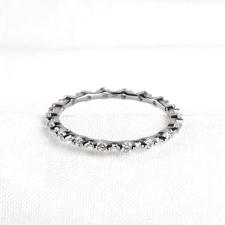 Stackable Clear Crystals Ring
