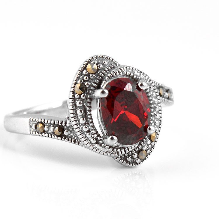 Red Crystal Vintage Inspired Ring