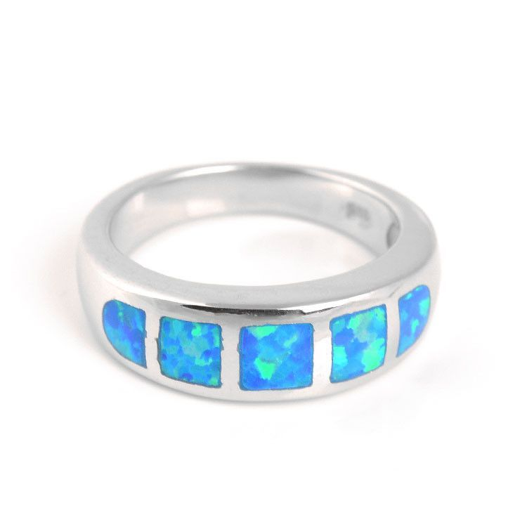 Five Inlaid Opals Ring