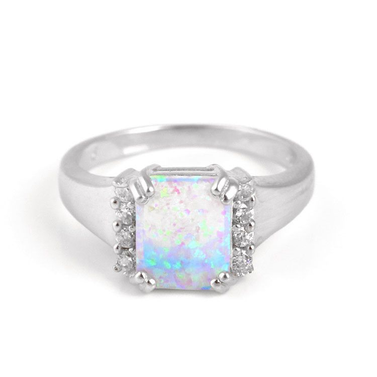 Light Blue-Green Opal Ring
