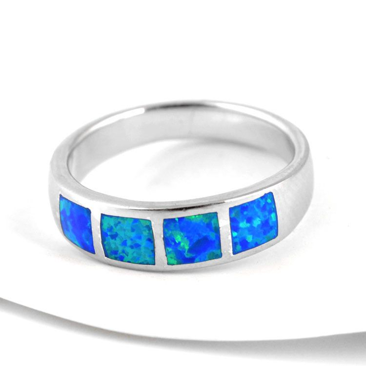 Four Inlaid Opals Ring