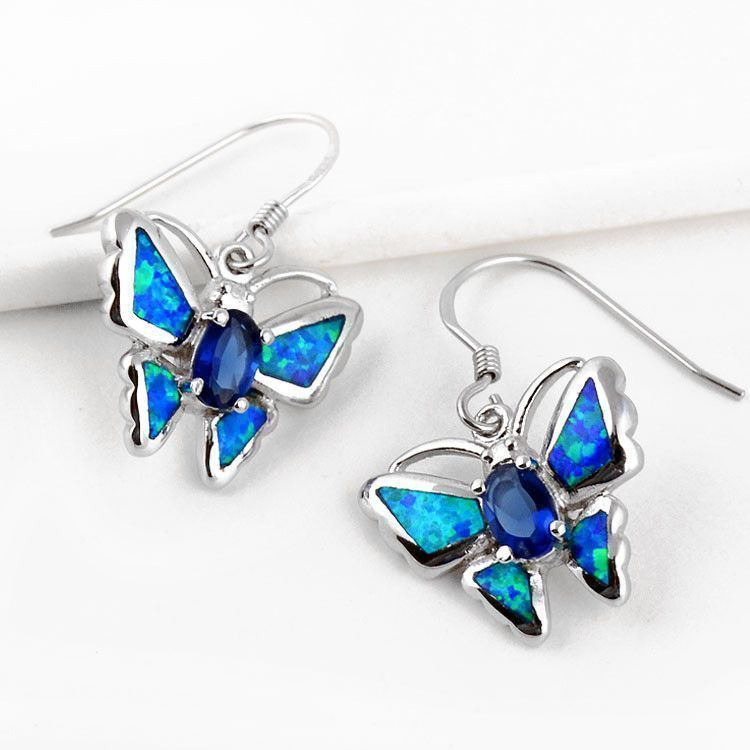 Beautiful Butterflies Opal Earrings