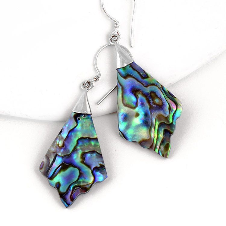 Abalone & Silver Hook Earrings