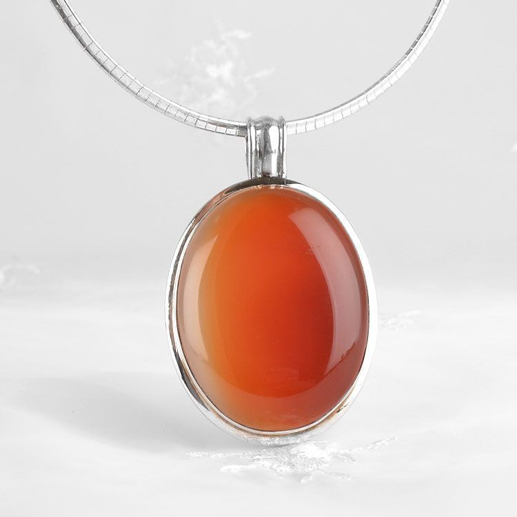 Natural Carnelian Gemstone Pendant