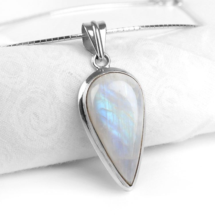 Inverted Drop Moonstone Pendant