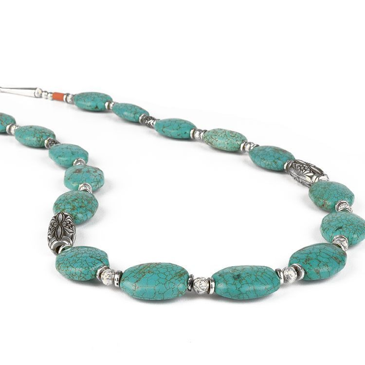 Green Turquoise Ovals Necklace