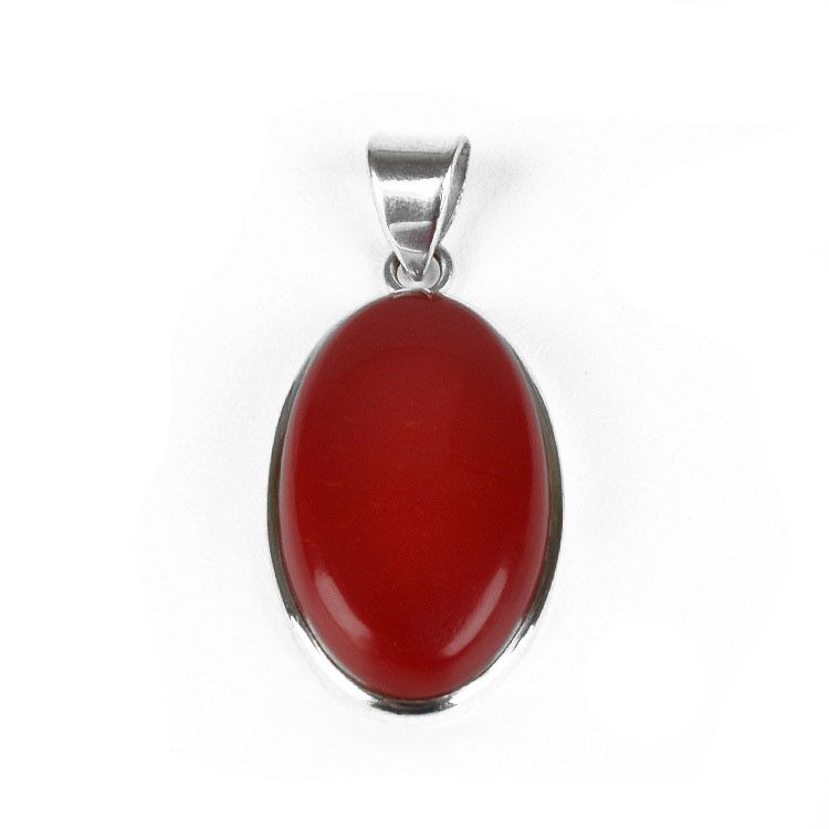 Red Coral Gemstone Pendant