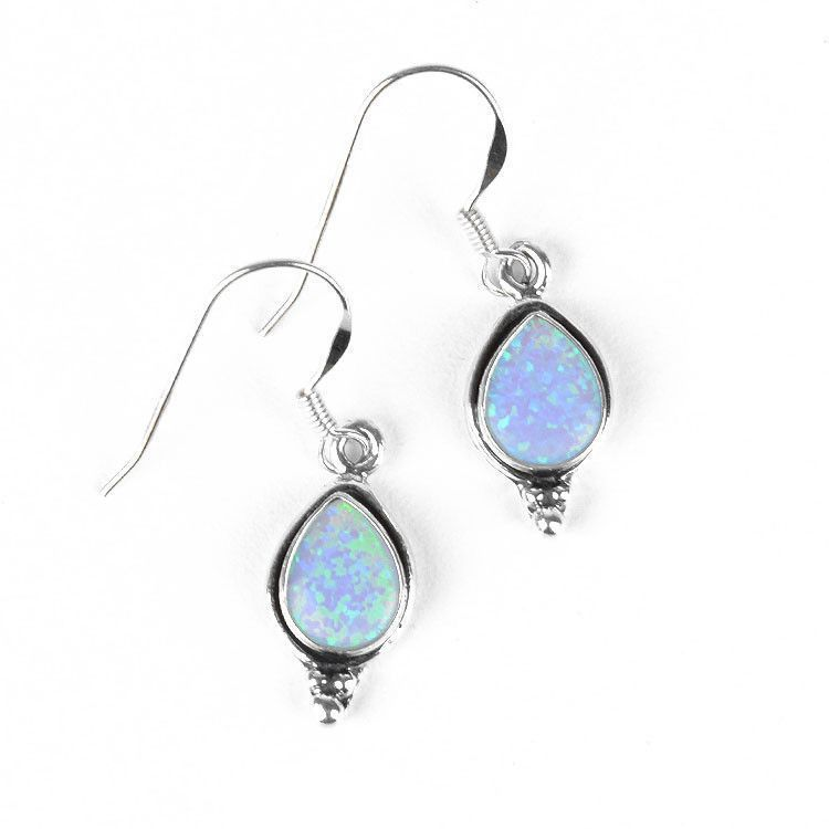 Created Opal Drop Earrings