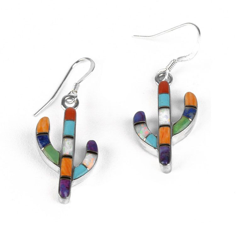 Colorful Saguaro Cactus Earrings